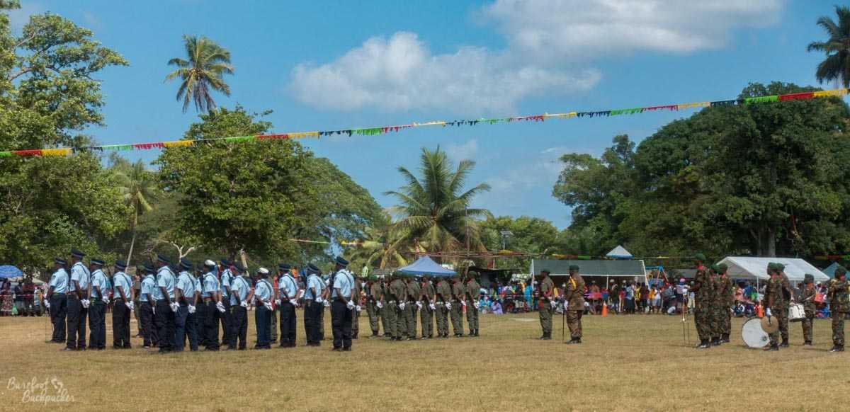 Indepdendence Day parade, Unity Park, Luganville, Vanuatu.