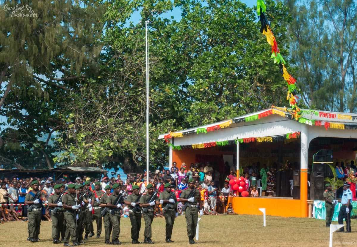 Independence Day parade, Unity Park, Luganville, Vanuatu.