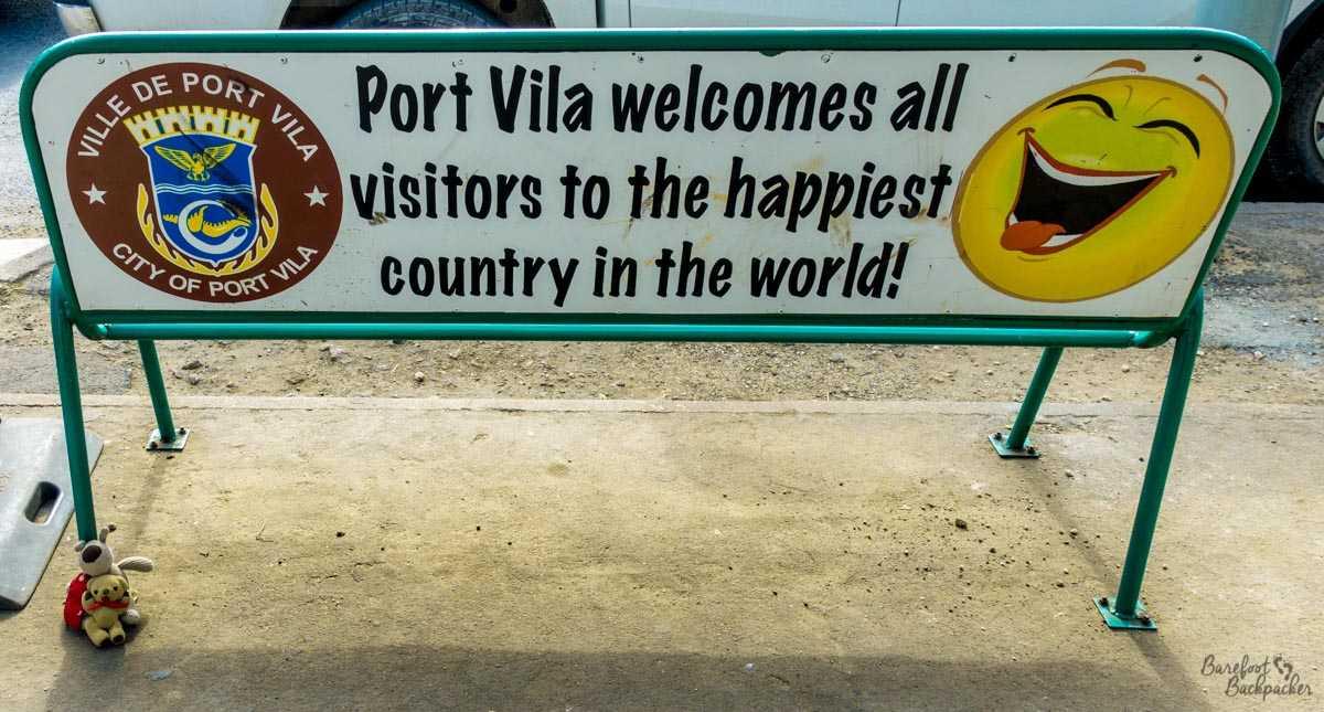 Happiness sign in Vanuatu.
