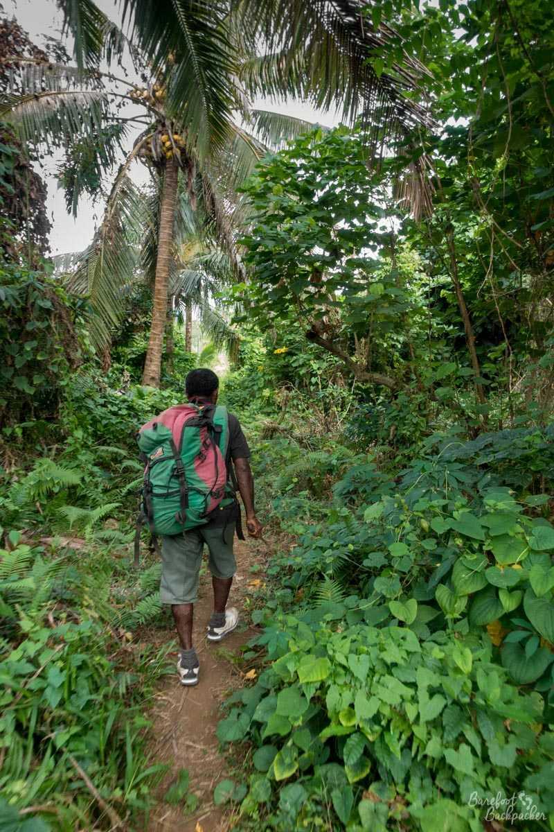My guide on Gaua, hiking the jungle.