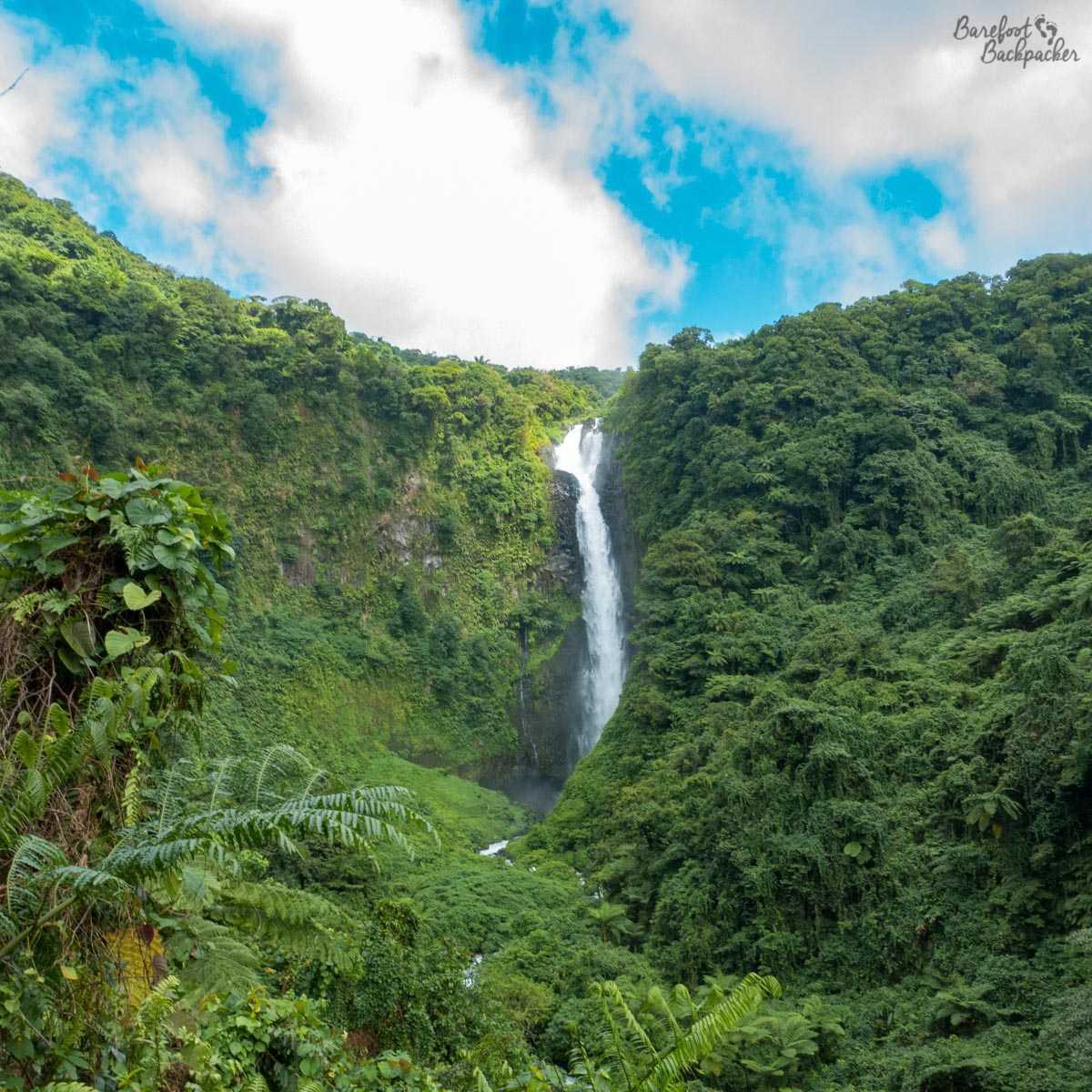 Siri Waterfall, Gaua, as seen from 45min trek away.