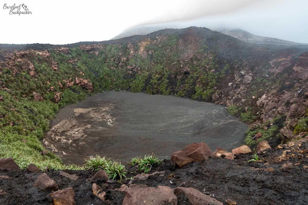 Crater at Mt Garet, Gaua.