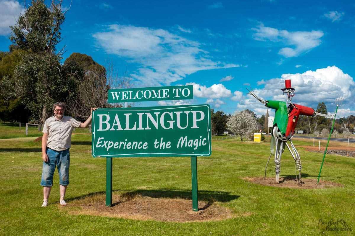 The welcoming sign to Balingup, Western Australia
