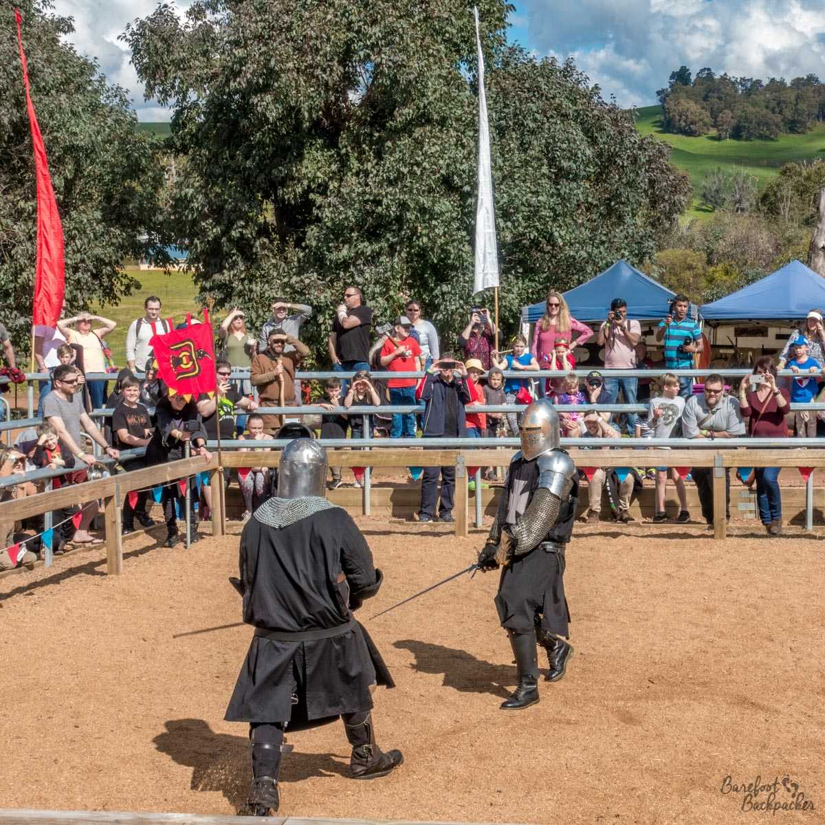 Battle scene at the Mediaeval Carnivale, Balingup
