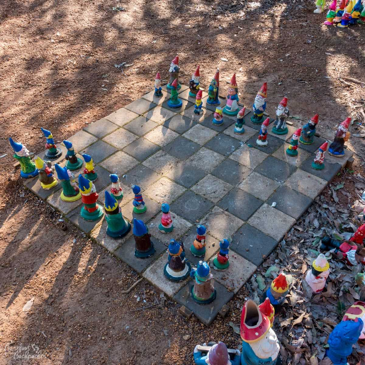 Some more gnomes at Gnomesville, playing chess