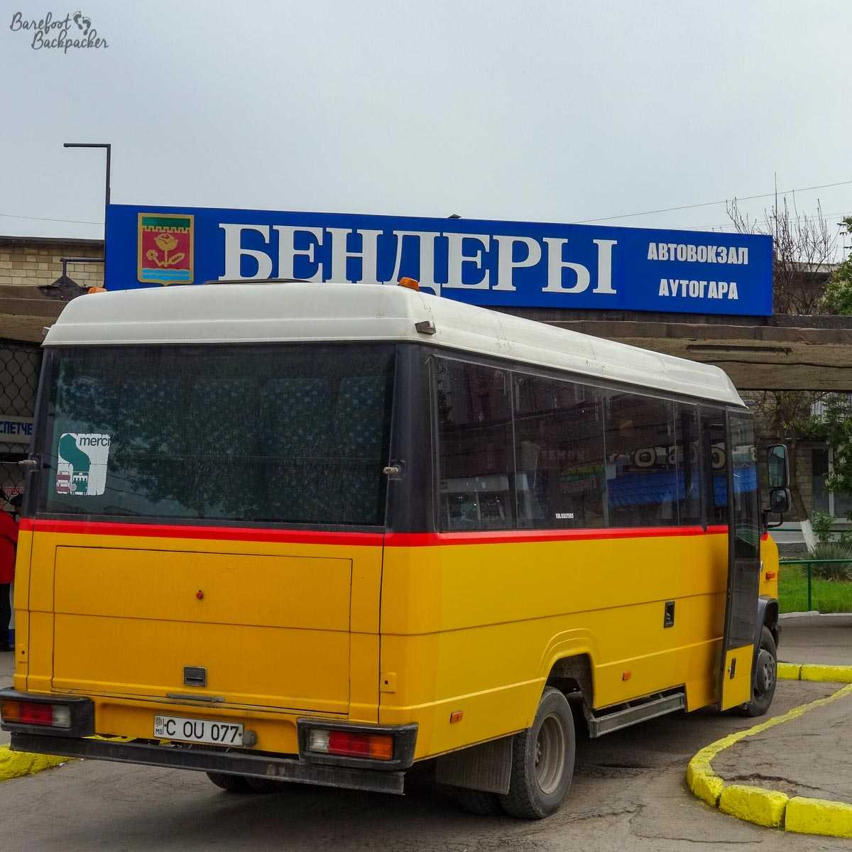 The minibus to Tiraspol in Bender.