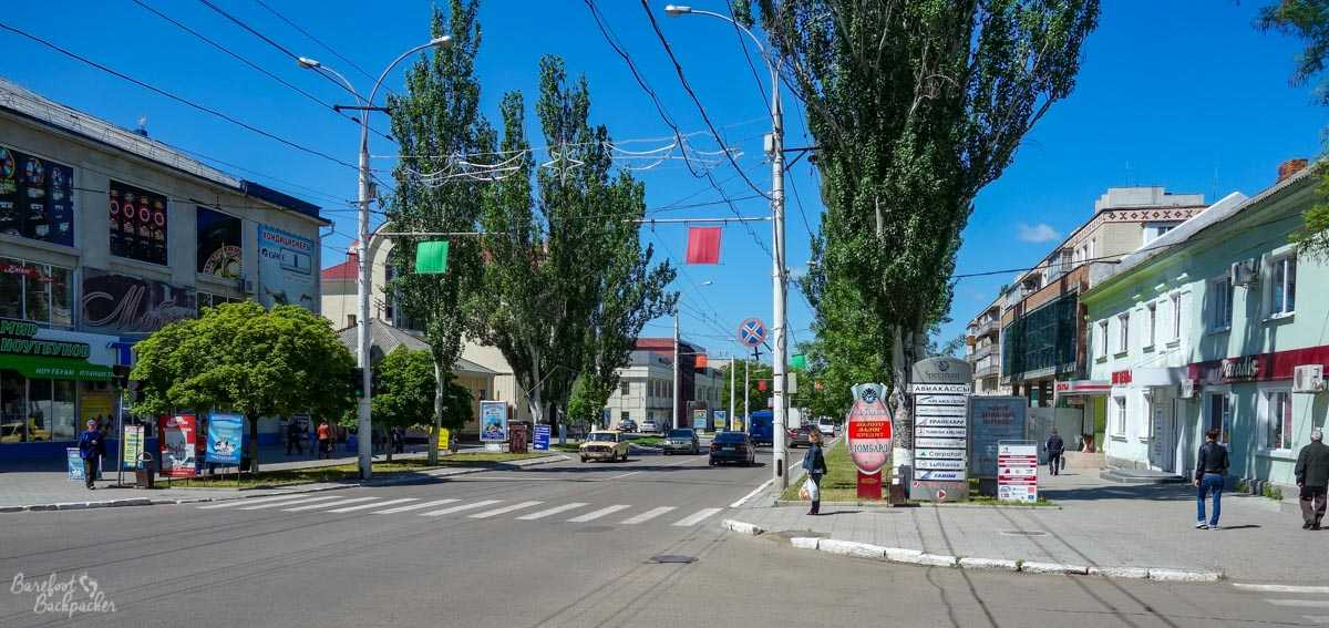A street in Tiraspol centre.