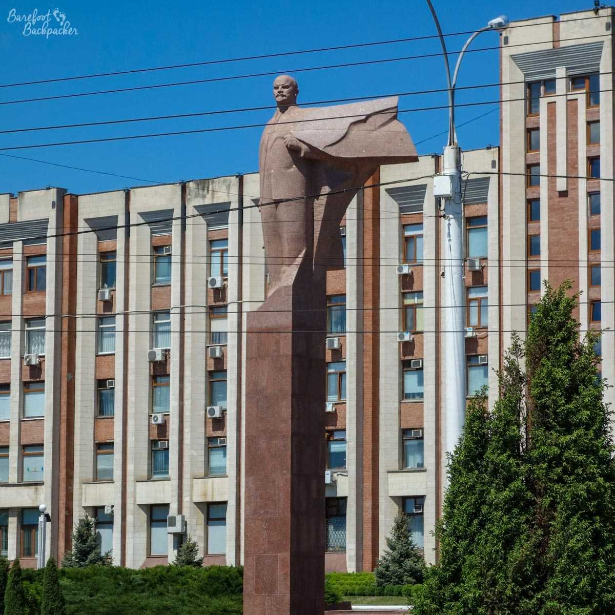 Statue of Lenin outside the Transnistrian Parliament Building