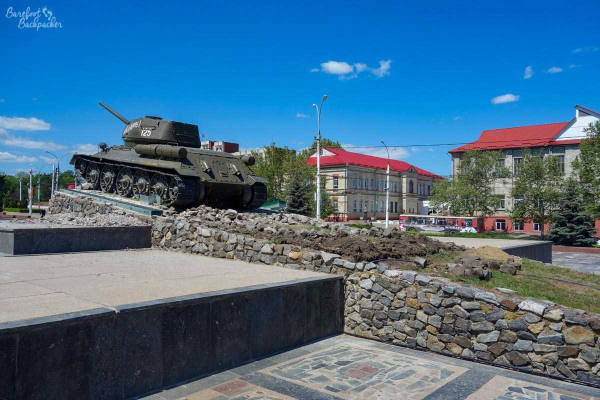 The tank, in Tiraspol centre.