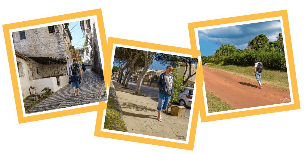 Three pics of me: Albania, Malta, Vanuatu.