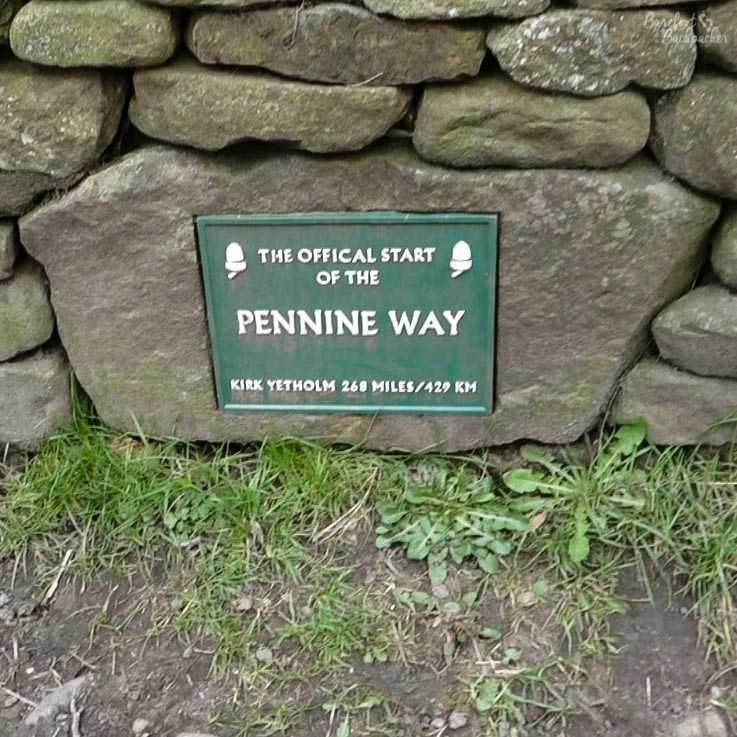 Sign signifiying the start of the Pennine Way, at Edale