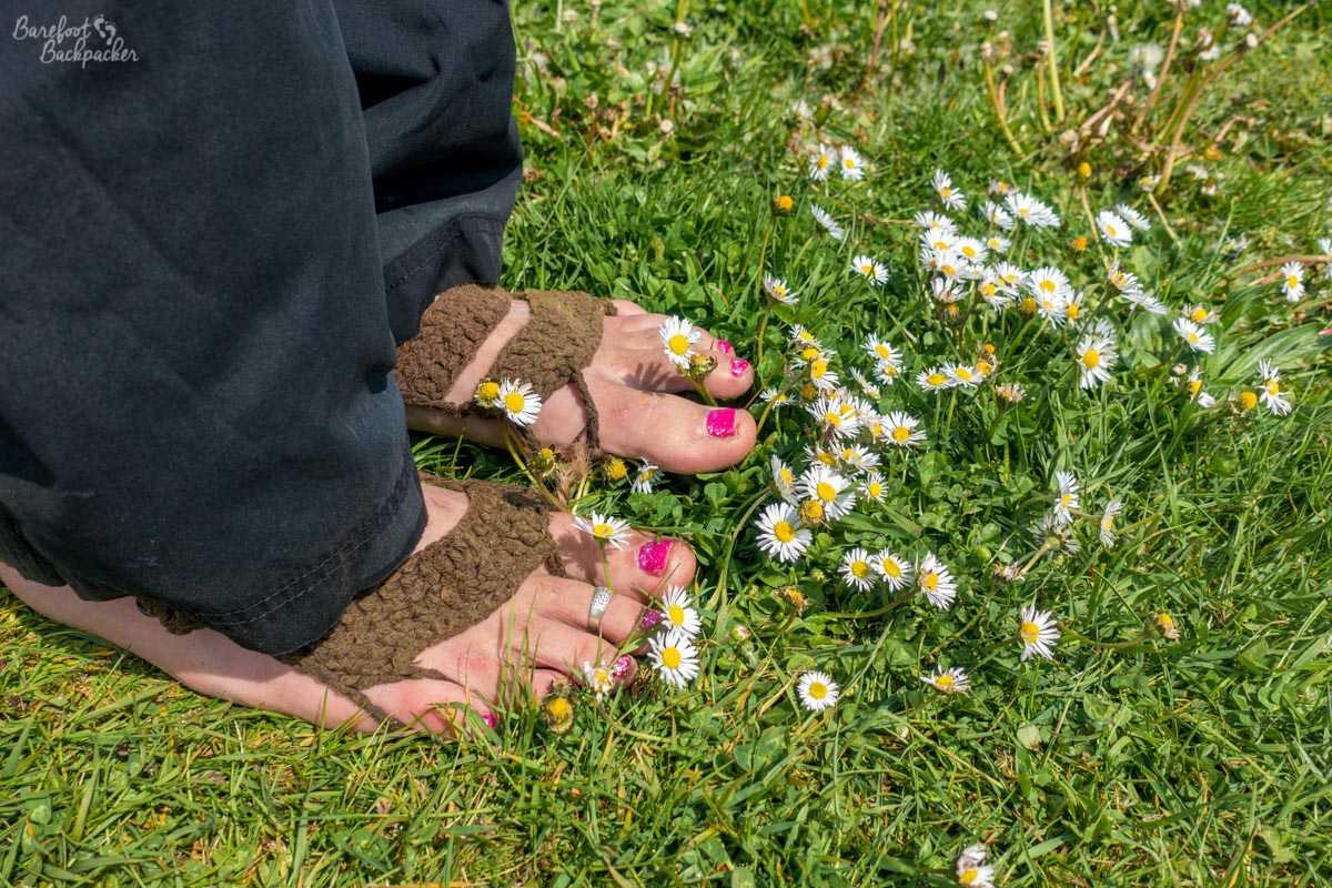 Standing barefoot in a field of daisies, somewhere near the Southern end of the Norfolk Coast Path