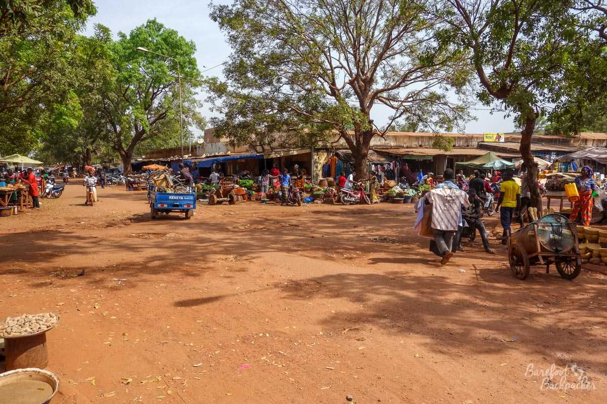 Bobo Town Centre – the market in the trees.