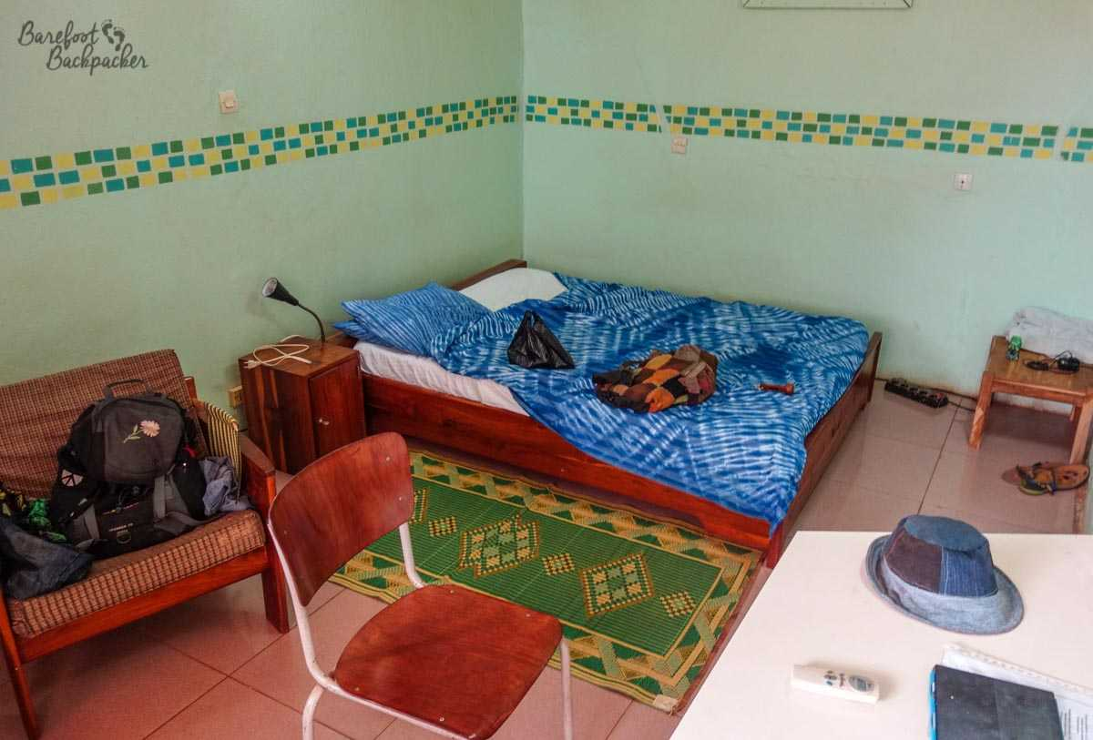 Inside the guesthouse in Bobo, Burkina Faso