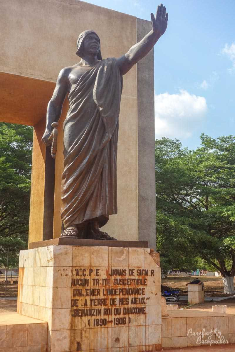 Statue of King Behanzin, second-to-last effective King of Dahomey.