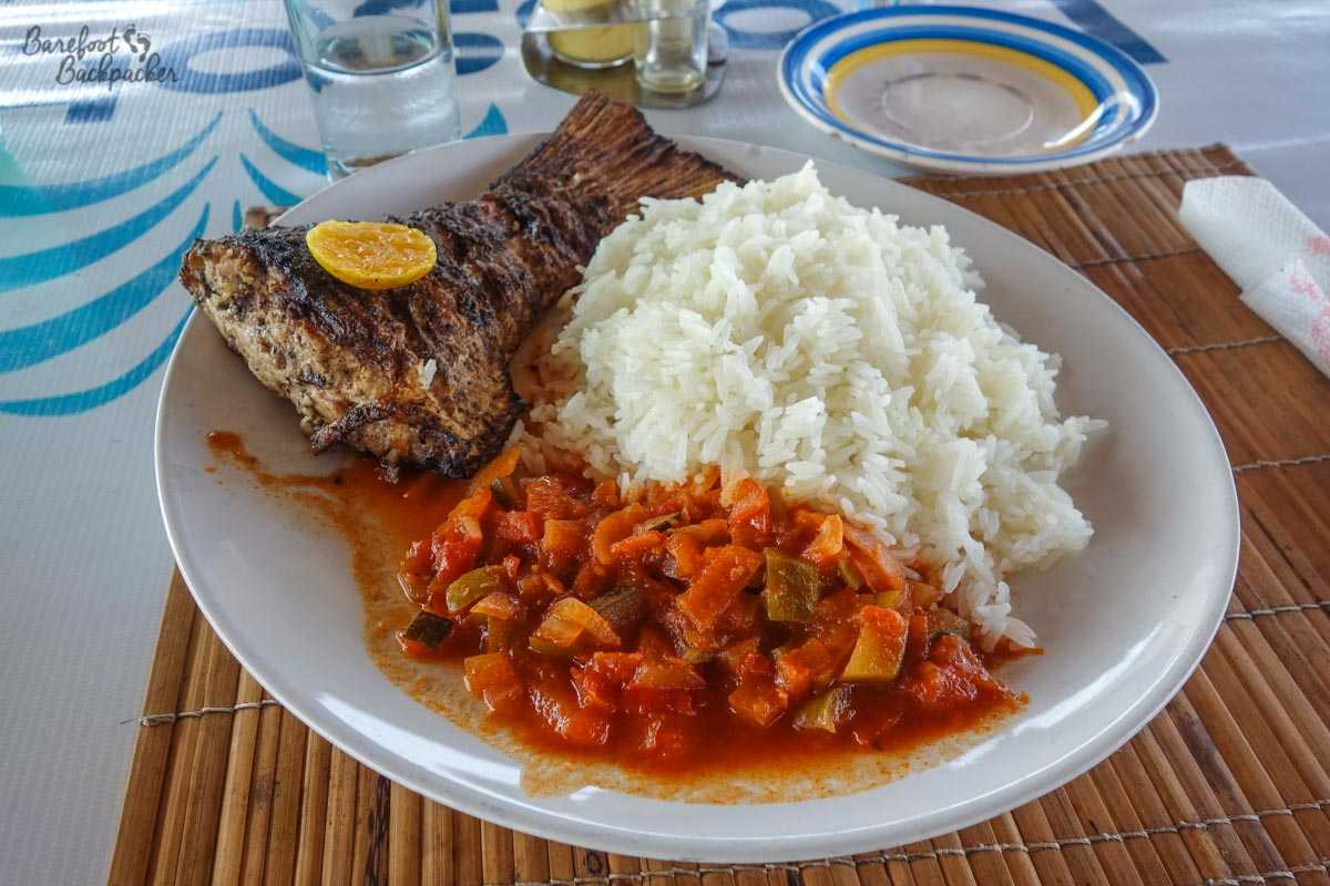 Fish with Rice; this example from Benin