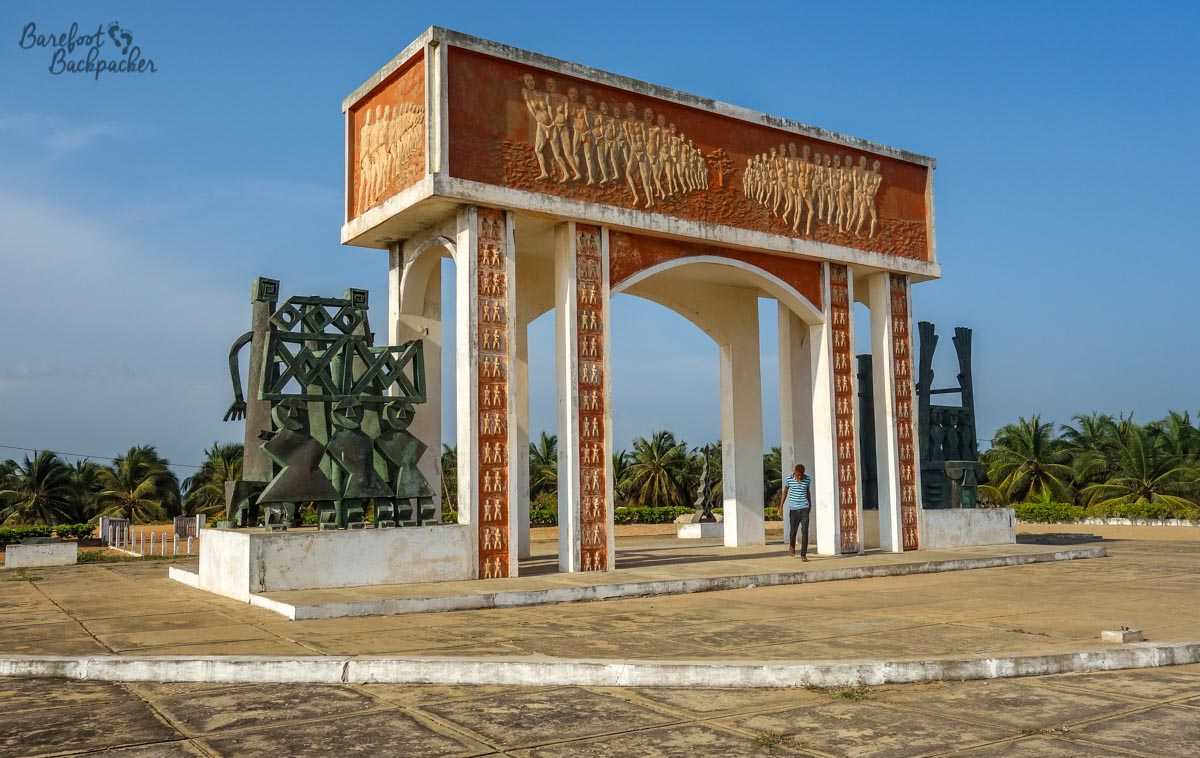 The archway signifying the 'Point Of No Return' at the beach in Ouidah, Benin. It's a symbol – it wasn't here when the Slave Trade was in operation.