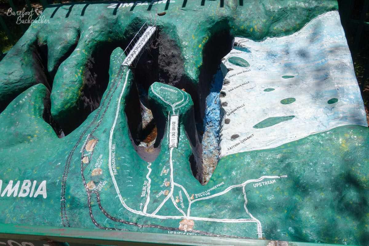 Contoured map of Victoria Falls