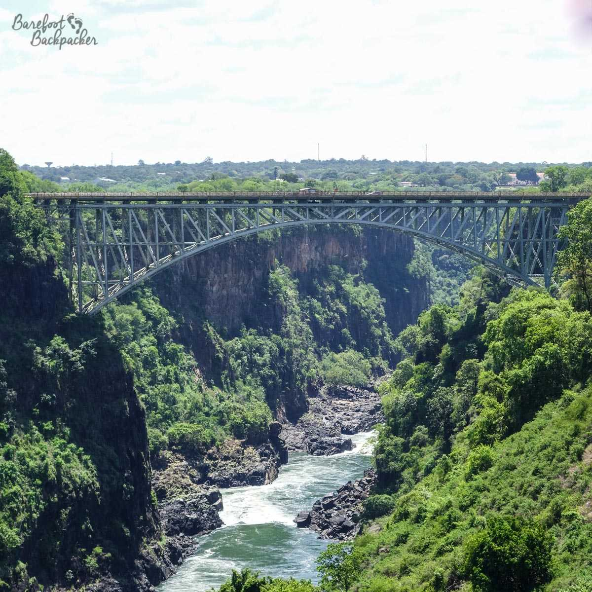 Victoria Falls Bridge – an arch of steel in the middle of a forest