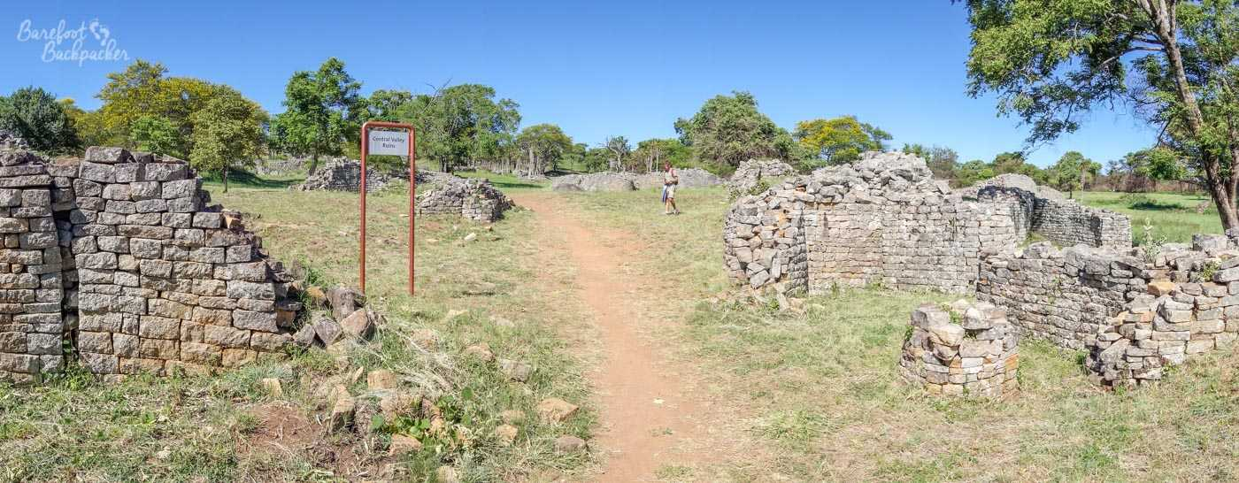 Panoramic view of part of the Valley Ruins.