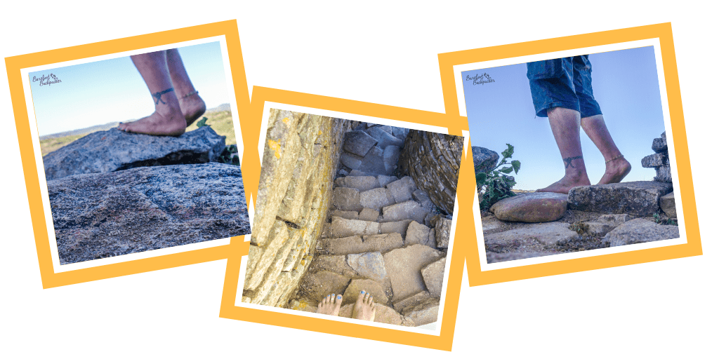 A triptych of bare feet pictures in and around Great Zimbabwe. I'm trying to be a bit artsy.