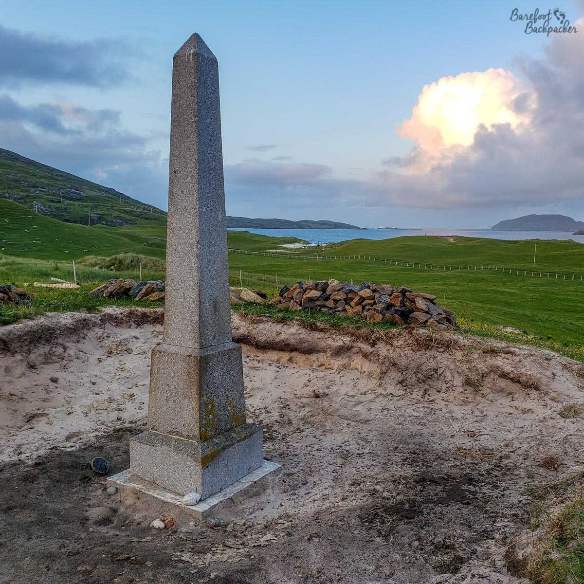 Memorial to the Annie Jane shipwreck, Vatersay