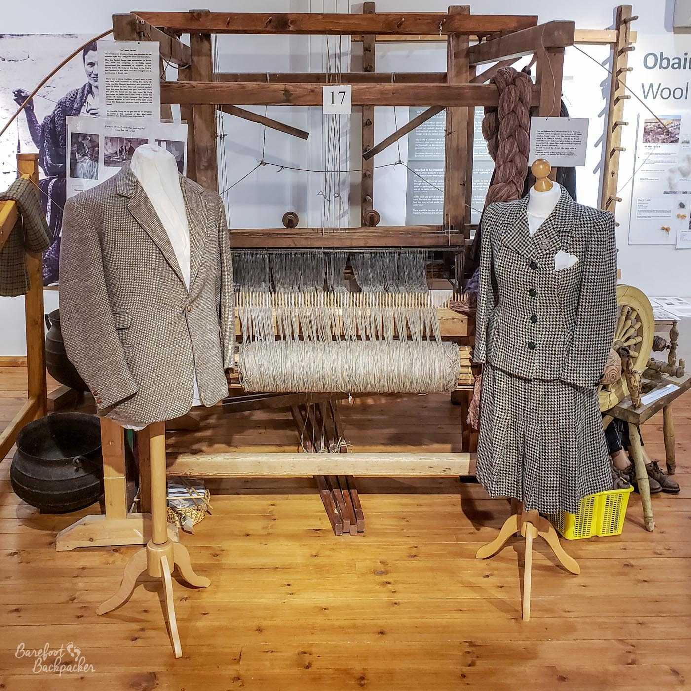 Examples of Harris Tweed at the Kildonan Museum