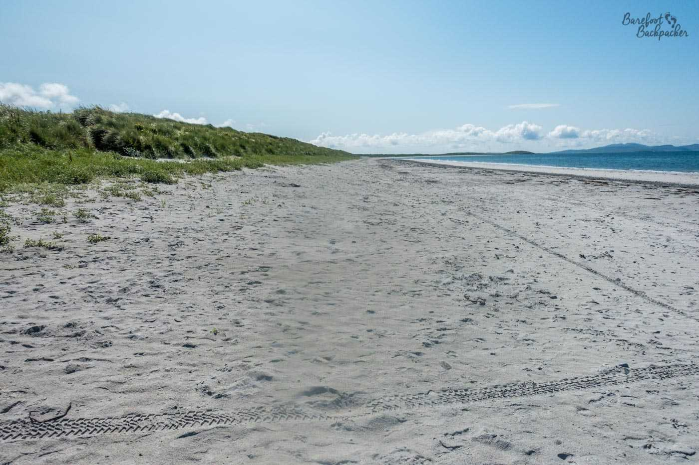 Part of the beach along the west side of South Uist. It's like this for 22 miles