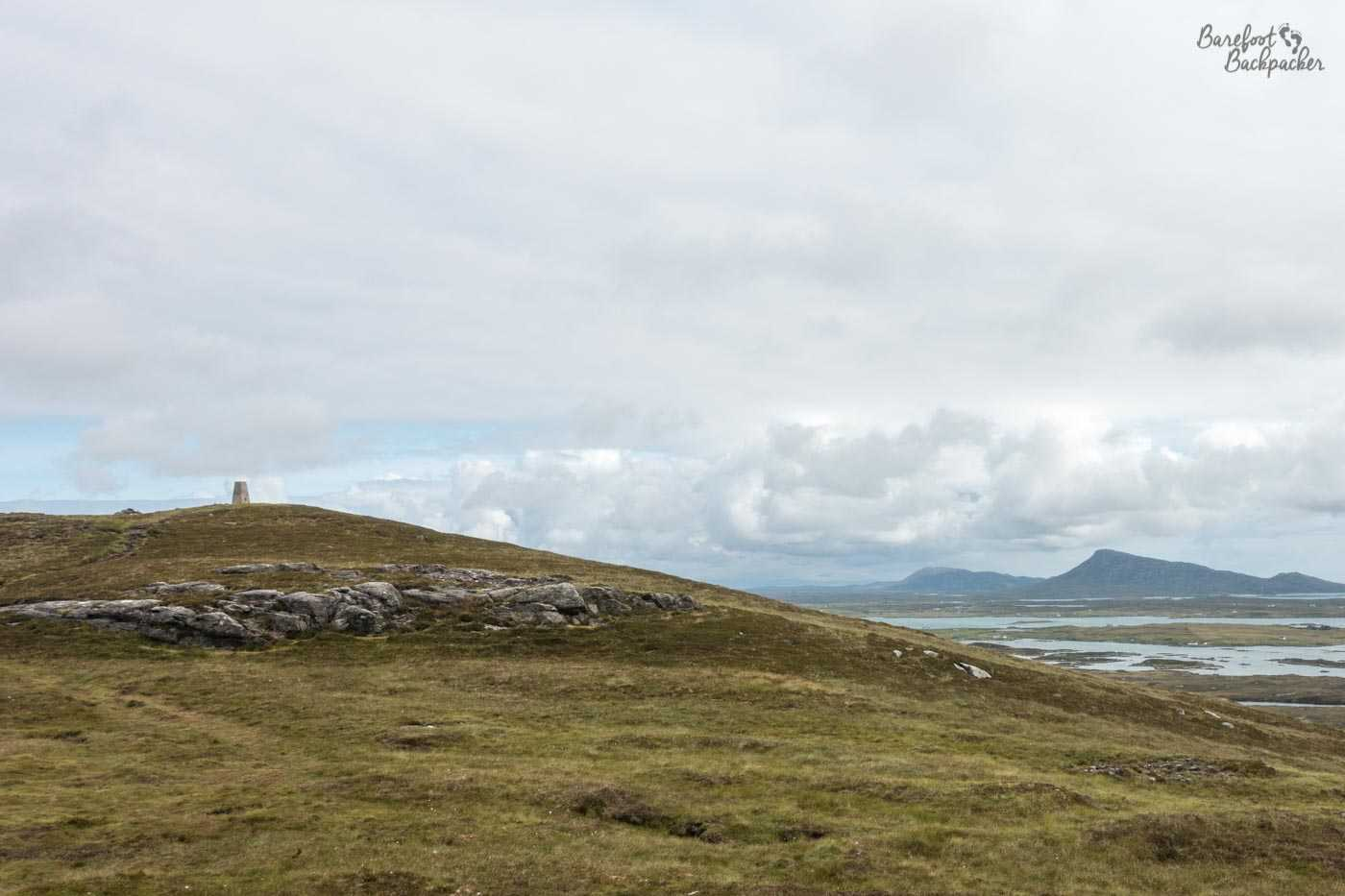 Benbecula's highest mountain, the 124m tall Ruabhal, as seen from, well, not much below the summit. Because it's 124m tall. My house in Kirkby is taller than this and that's at the bottom of a hill!