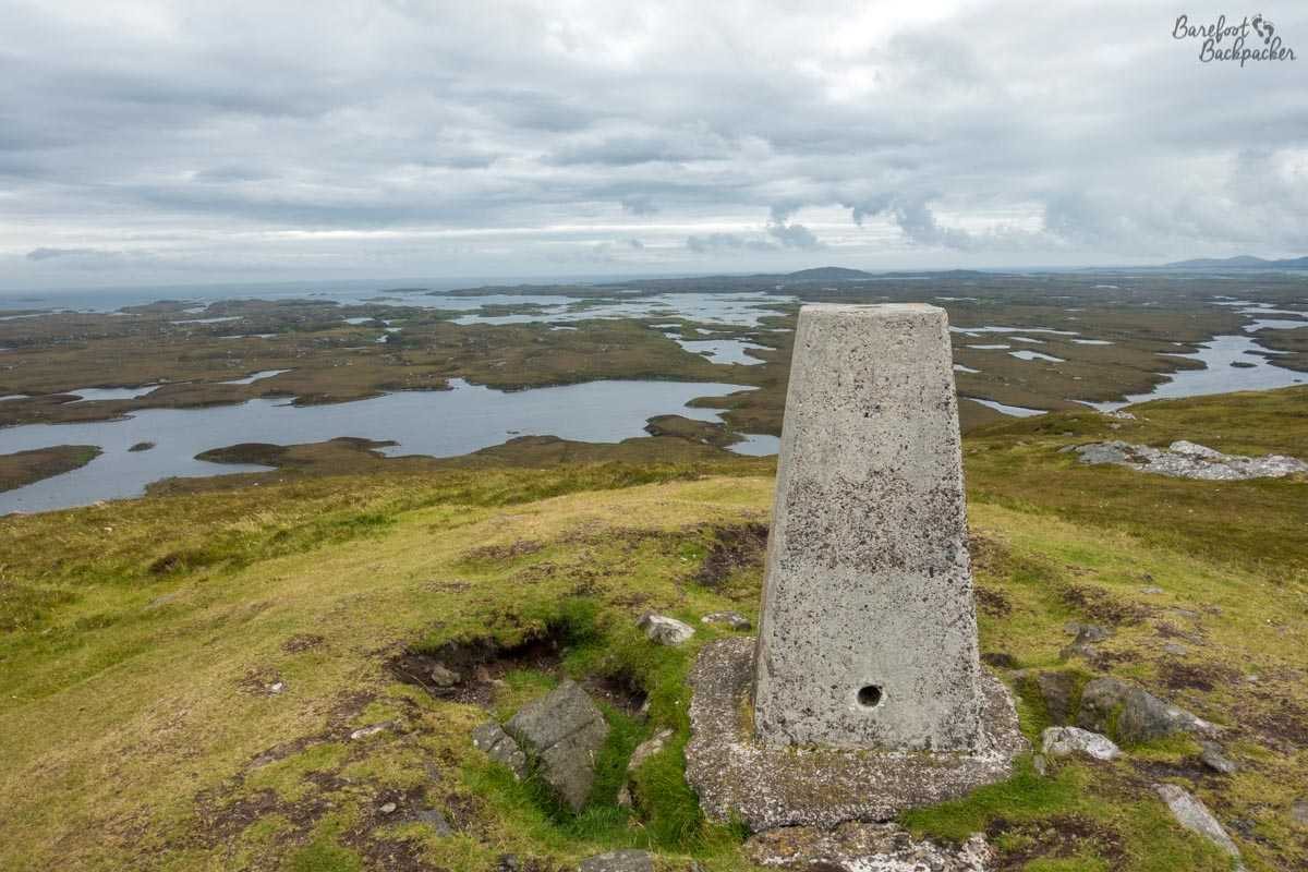 View from the summit of Benbecula's highest mountain, Ruabhal