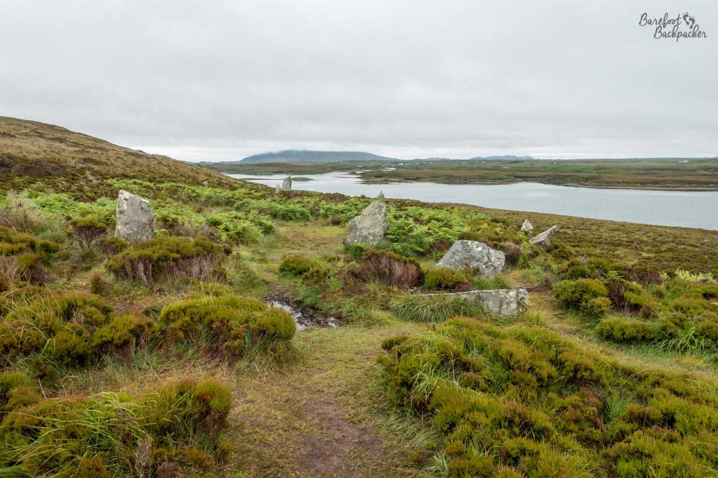 Stone circle at Pobull Fhinn, North Uist.
