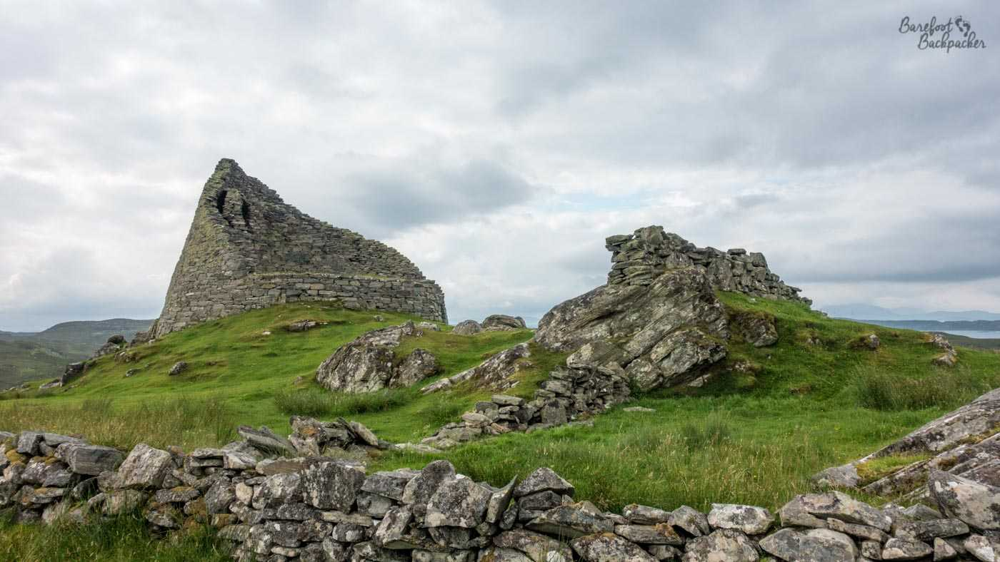 Remains of the broch at Dun Carloway, Lewis
