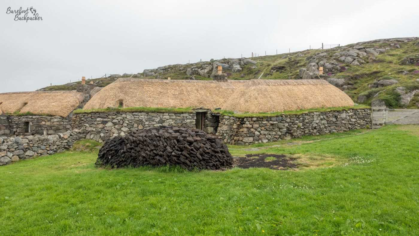 Example of one of the blackhouses at the museum on Lewis