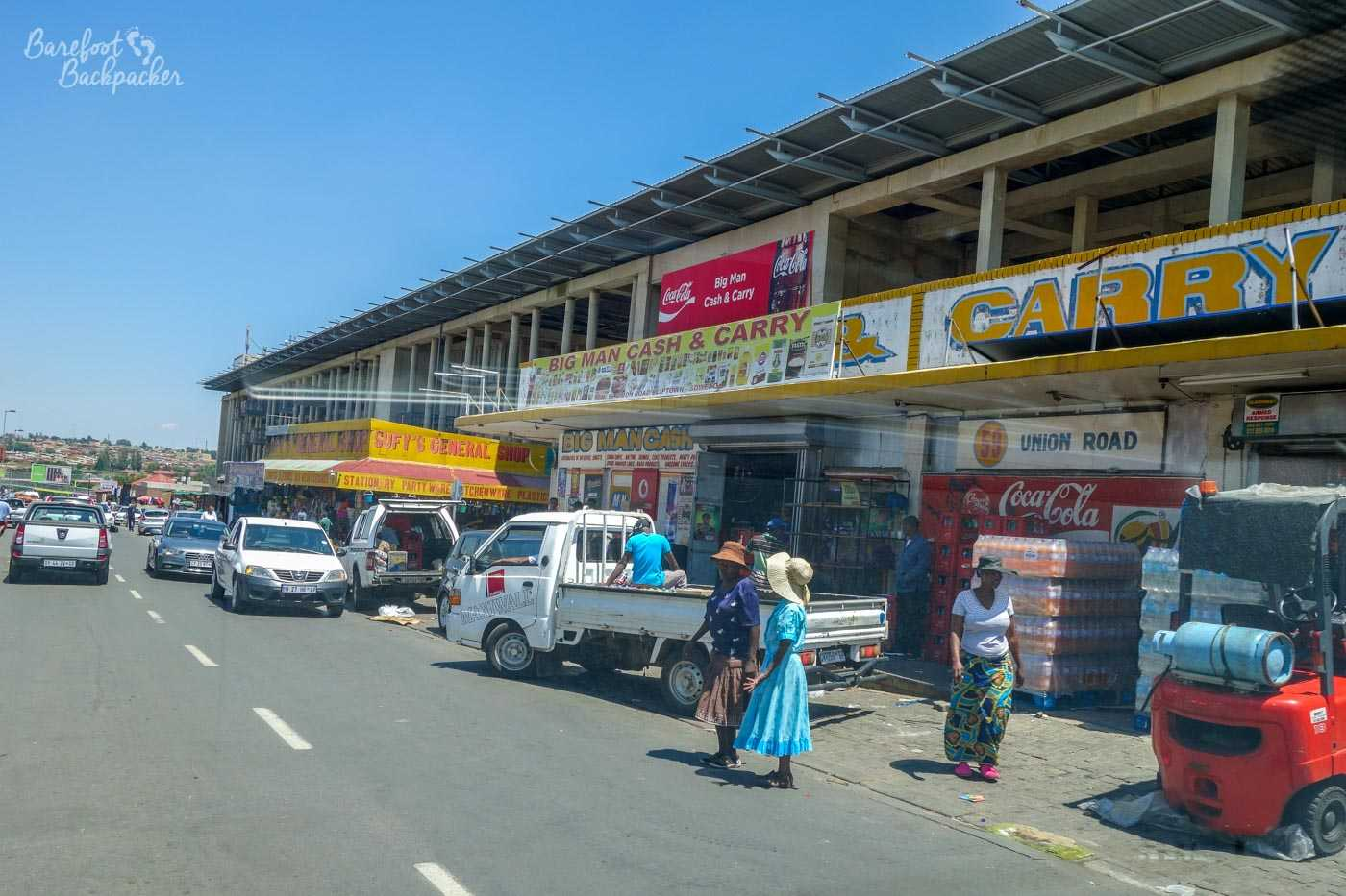 Shops in downtown Soweto, near Walter Sisulu Square