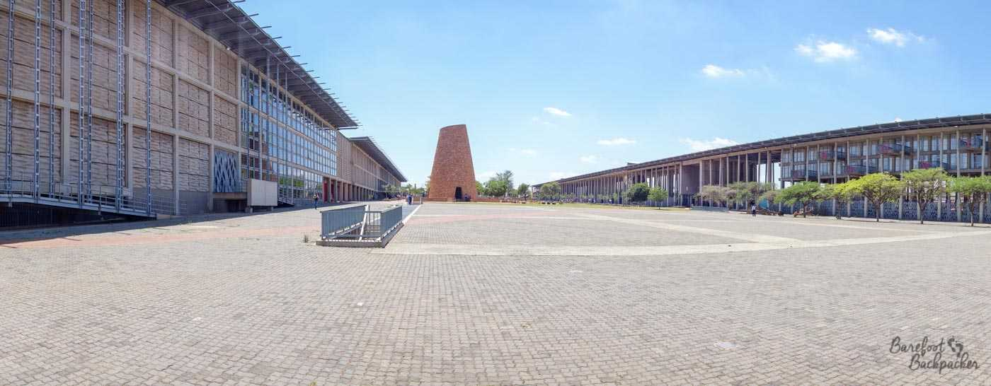 Walter Sisulu Square, Soweto; tower in the distance