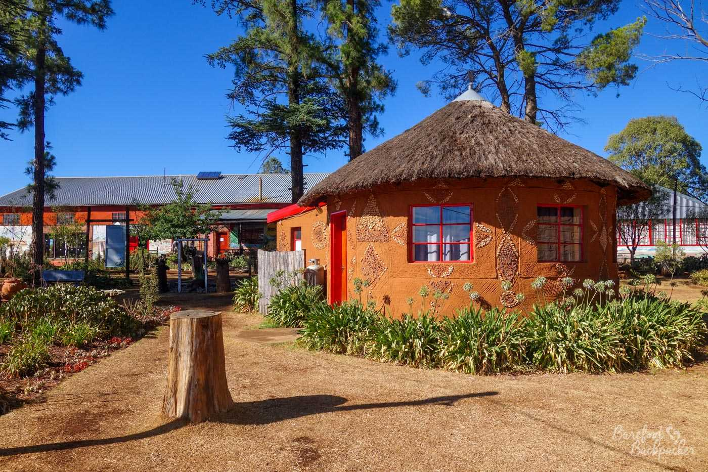 An example of the huts at Malealea Lodge that you can sleep in. I think this is the Basotho Hut, like the one I was in.