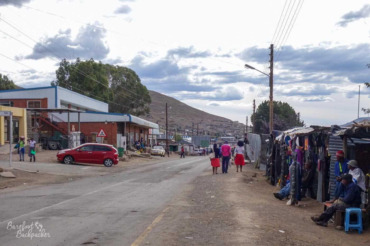Mokhotlong town centre, Lesotho