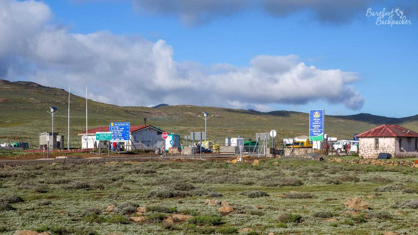 Lesotho Border Post, at the top of the Sani Pass.