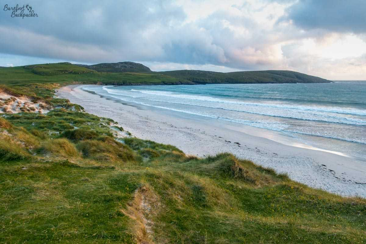View of one of the beaches on Vatersay – to the west of the central narrows