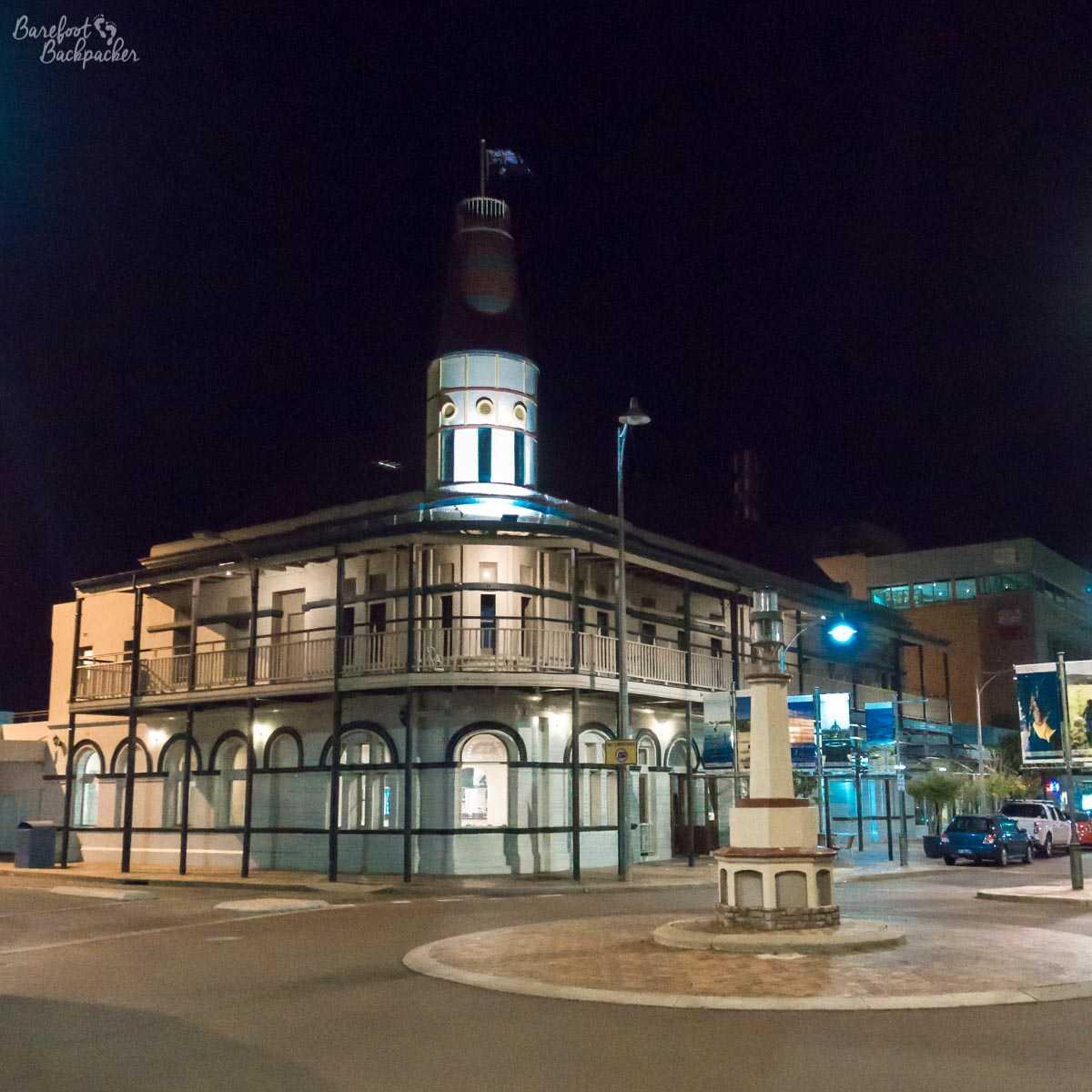 Geraldton, Western Australia, at night.