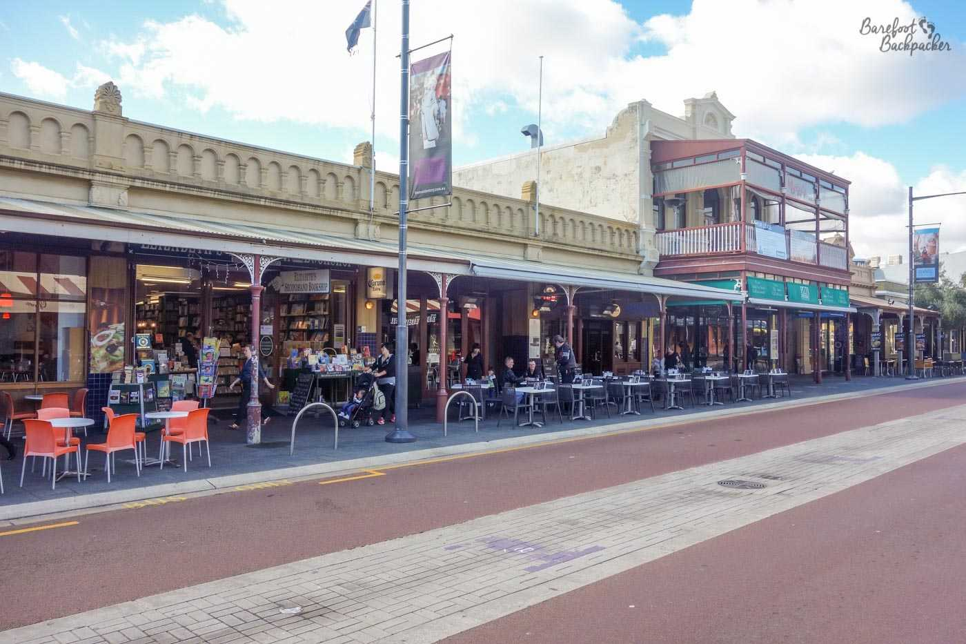 Typical street in Fremantle town centre.