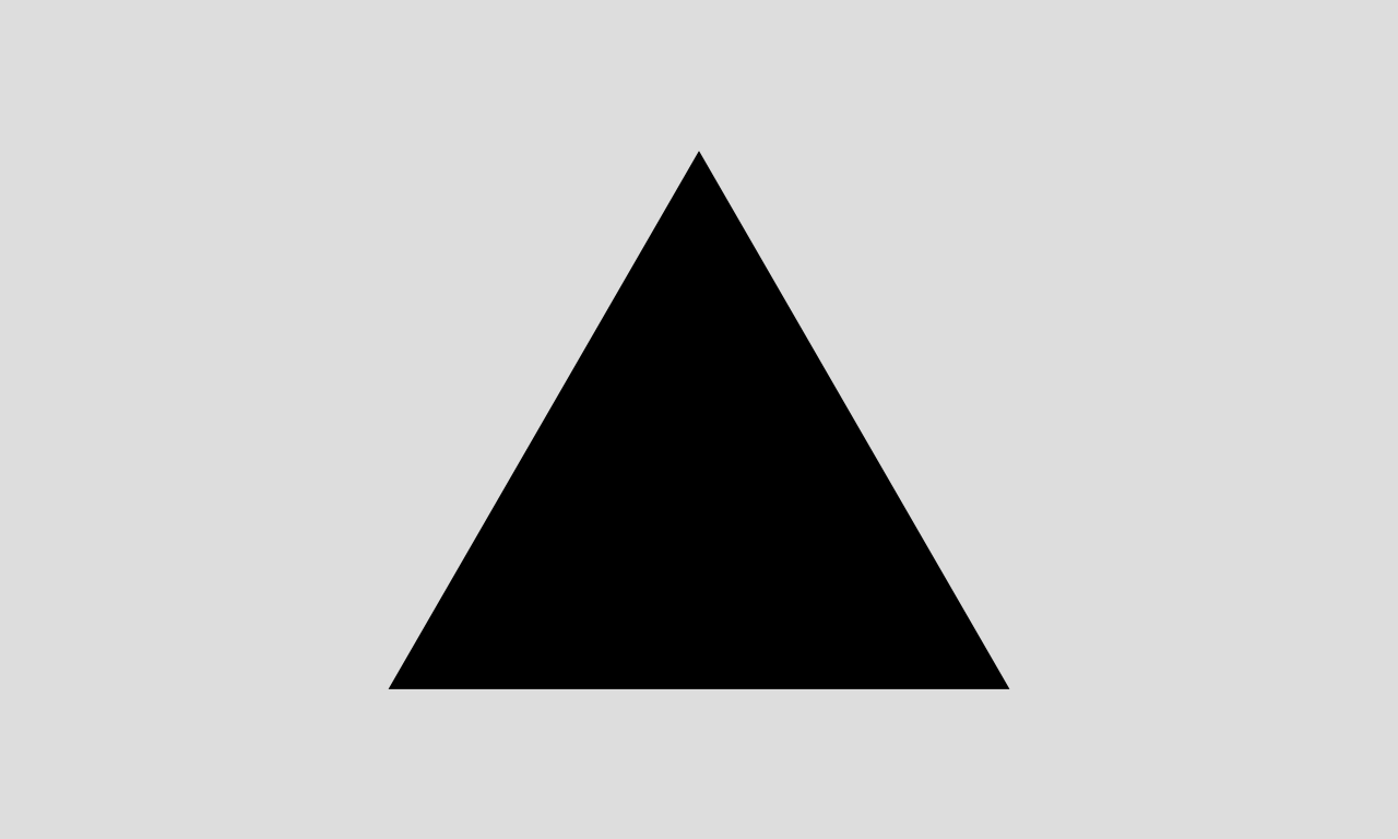 City flag of Magnitogorsk, Russia. It's a black triangle on a grey background. That's it.