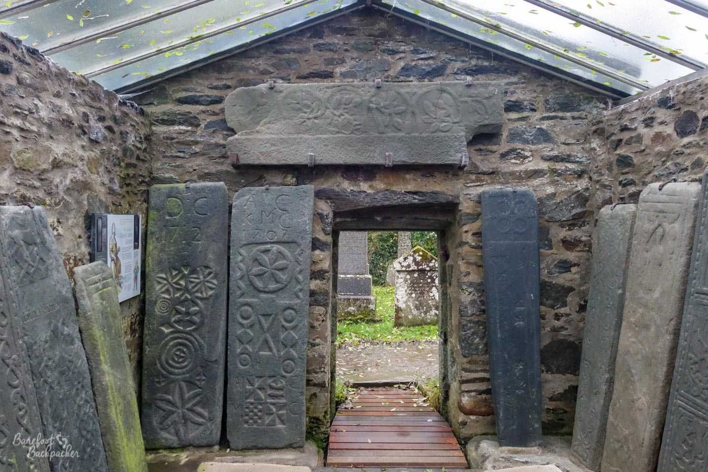 The Kilmartin Stones – a series of gravestones piled in a glorified shed in a graveyard. They have all manner of strange symbols on them.